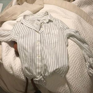 Medium madewell striped button down with knot